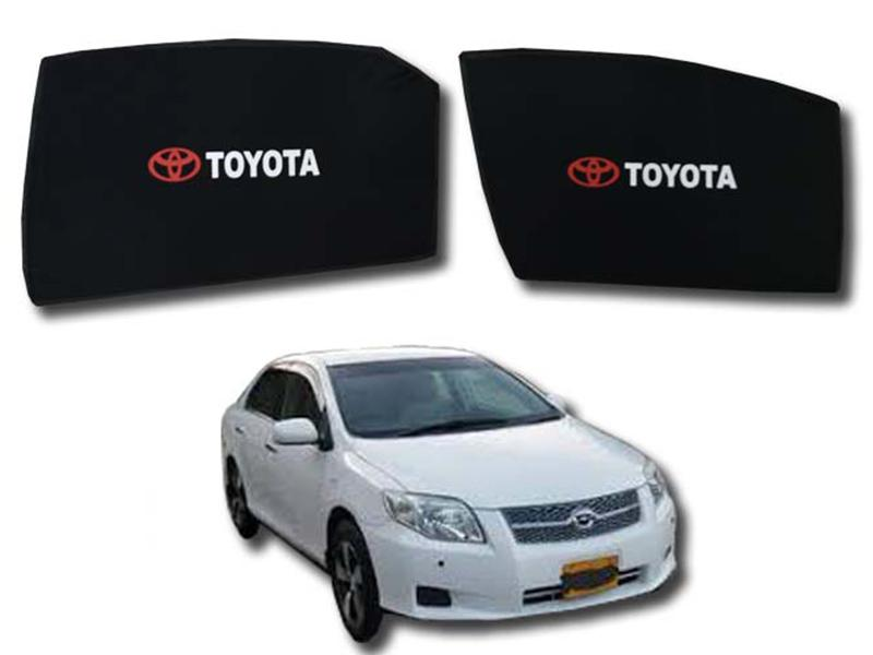 Foldable & Flexible Fix Shades With Logo For Toyota Axio 2007-2010 - 4 Pcs in Karachi