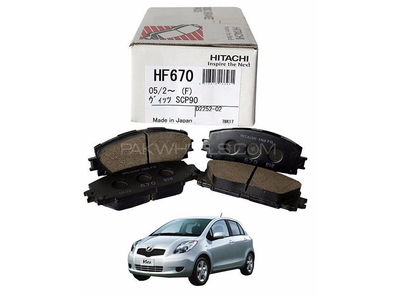 Hitachi Front Brake Pad For Toyota Vitz 2006-2012 - HF670 in Lahore