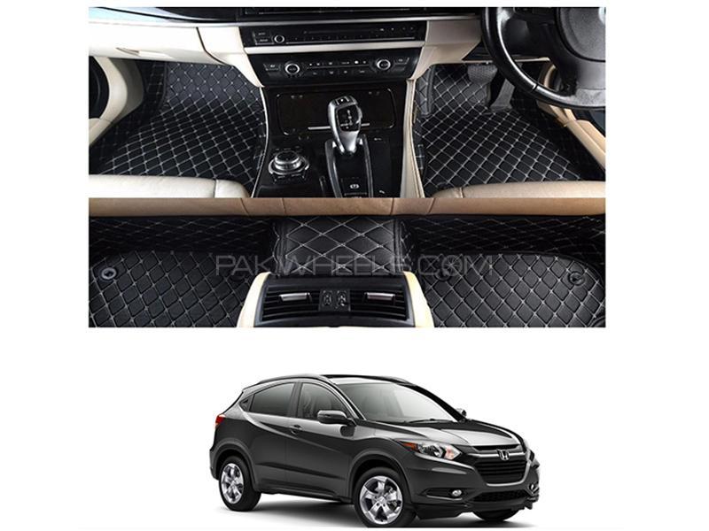 7D Floor Mat For Honda Vezel 2013-2019 - Black  Image-1