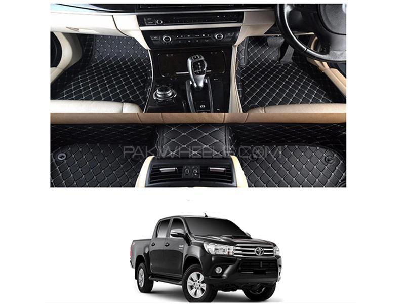 7D Floor Mat For Toyota Hilux Revo 2016-2019 - Black  Image-1