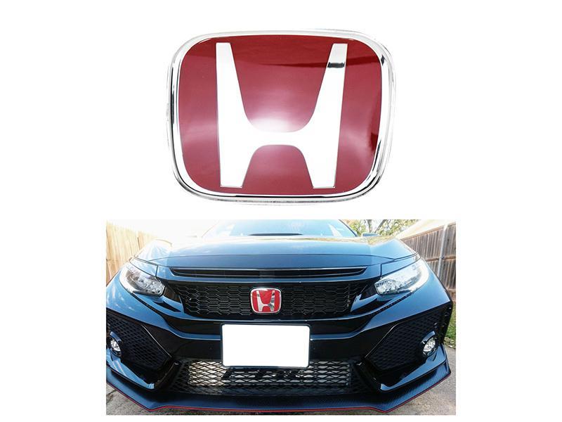 Front Grill Emblem For Honda Civic 2016-2019 - Red in Karachi