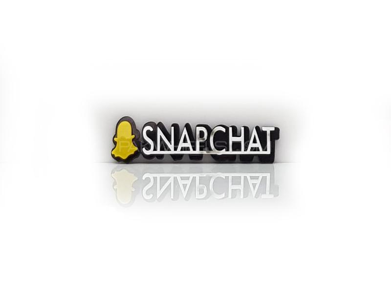 Snapchat 2 Plastic Pvc Emblem Image-1