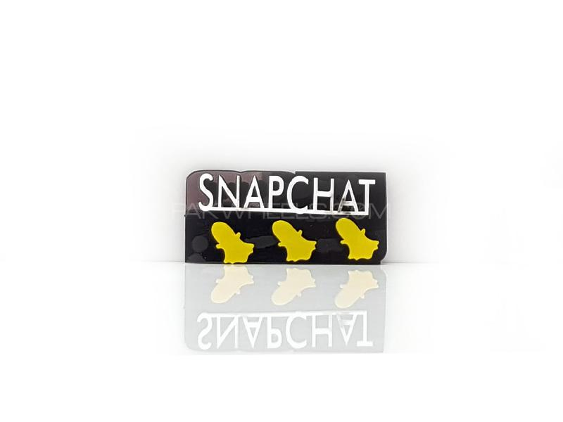 Snapchat Plastic Pvc Emblem Image-1