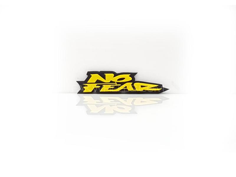 No Fear Black Plastic Pvc Emblem Image-1