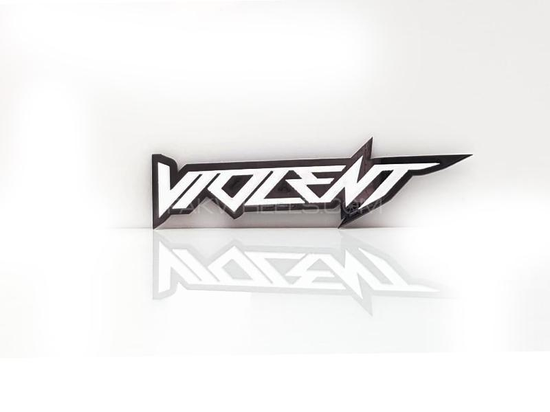 Voilent Plastic Pvc Emblem Image-1
