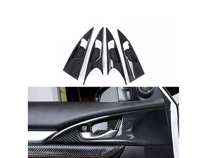 Honda Civic Carbon Handle Bowls Trims 4pcs 2016-2019 in Lahore
