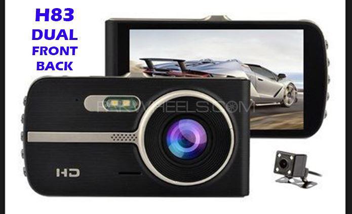 CAR DVR CAM H83 DUAL Front + Back VIDEO Recorder CAMERA FHD ORIGINAL Image-1