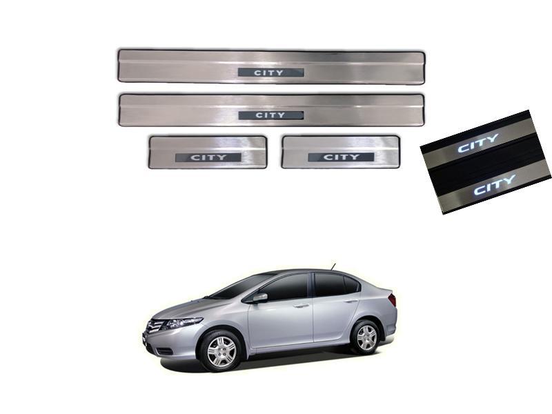 Honda City Door Sill Plates With Light - 2009-2019 Image-1