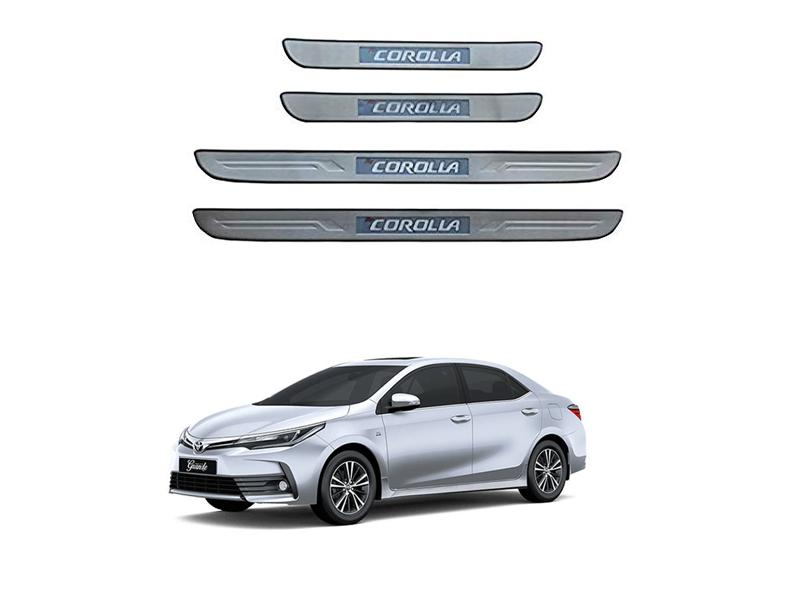Toyota Corolla Door Sill Plates With Light - 2016-2019 Image-1