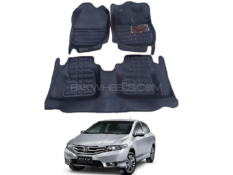 5D Custom Floor Mats Black For Honda City 2009-2020 Image-1