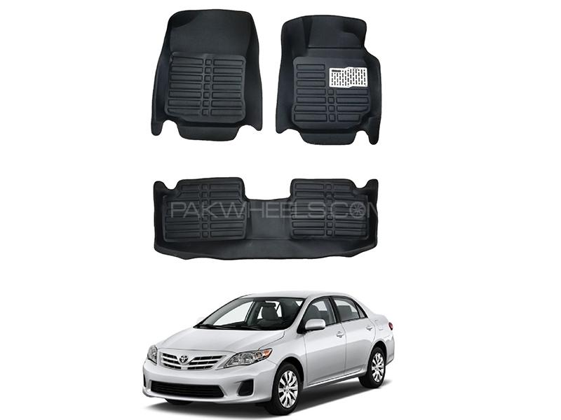 5D Custom Floor Mats Black For Toyota Corolla 2009-2013 in Karachi