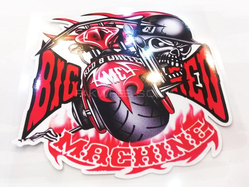 Big Red Machine Sticker  Image-1