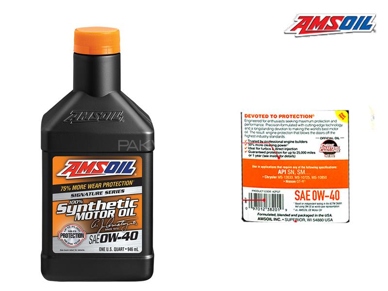 Ams Oil 0w40 Signature Series SN Plus For Petrol Engines 946ml Image-1