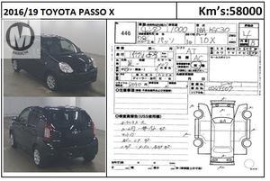 Used Toyota Passo X 2016