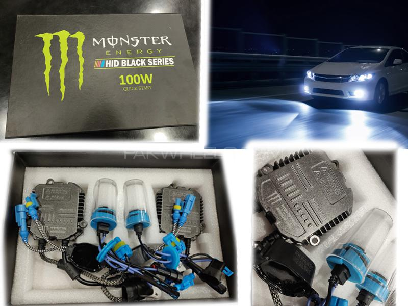 Monster Hid Lights Black Series 100w Quick Start H4 Image-1