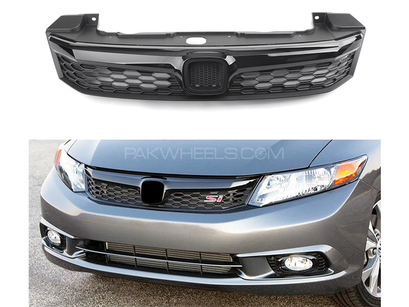 Honda Civic 2012-2015 Front Grill - Black  in Karachi