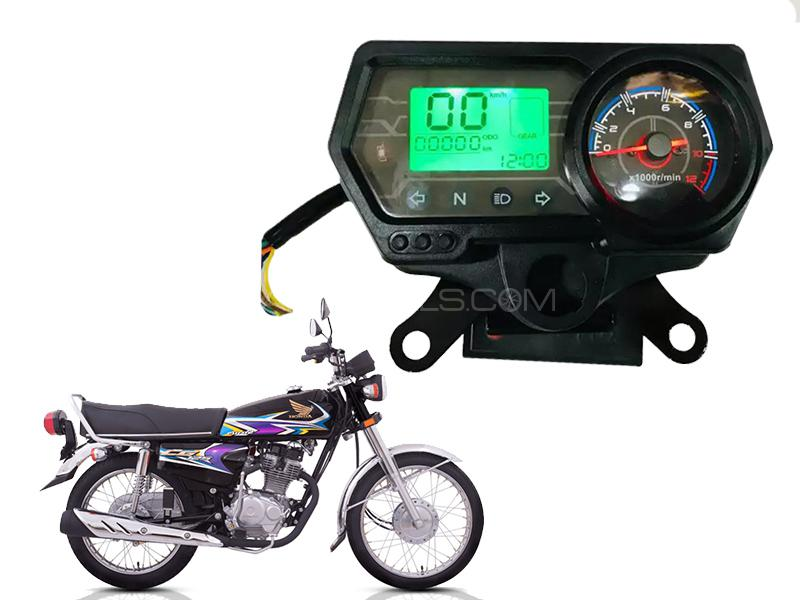 Honda Motorcycle Bike CG 125 Digital Speedometer Image-1