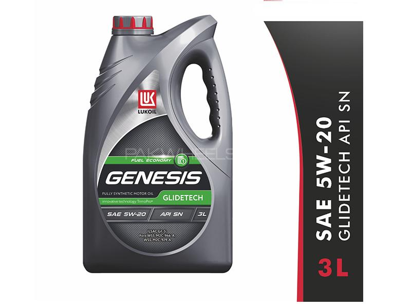 Lukoil Genesis Glidetech 5W-20, API SN Car Gasoline Petrol Engine Motor Oil Lubricant Synthetic 3L Image-1