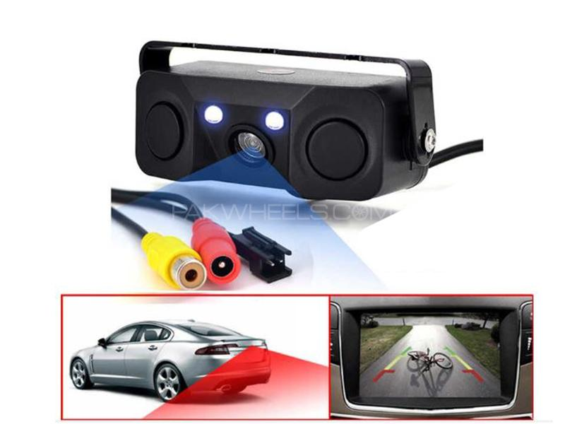 3in1 Tracking World Car Rear Parking Assistant Camera With Dual Sensor  in Lahore