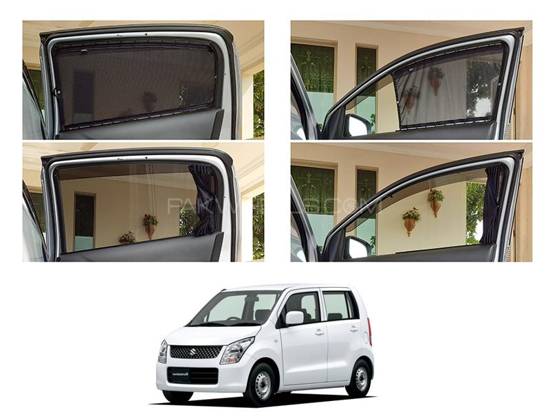 Awra Foldable Fitting Curtain Black Shades For Suzuki Wagon R 2008 Japan in Lahore