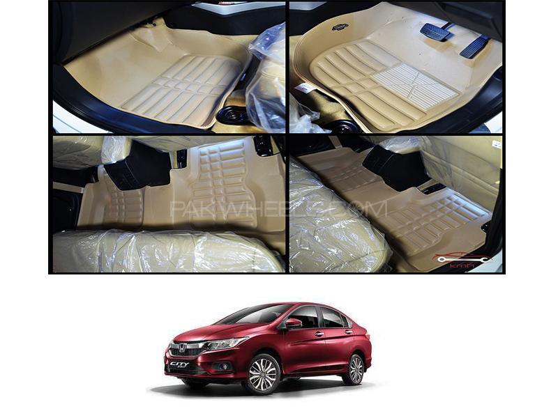 5D Floor Mat For Honda City 2009-2020 - Beige Image-1