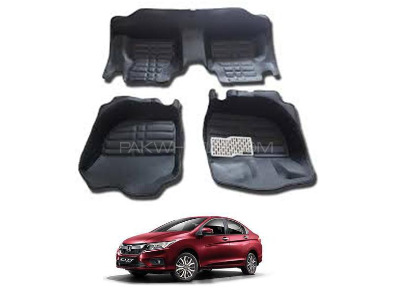 5D Floor Mat For Honda City 2009-2020 - Black Image-1