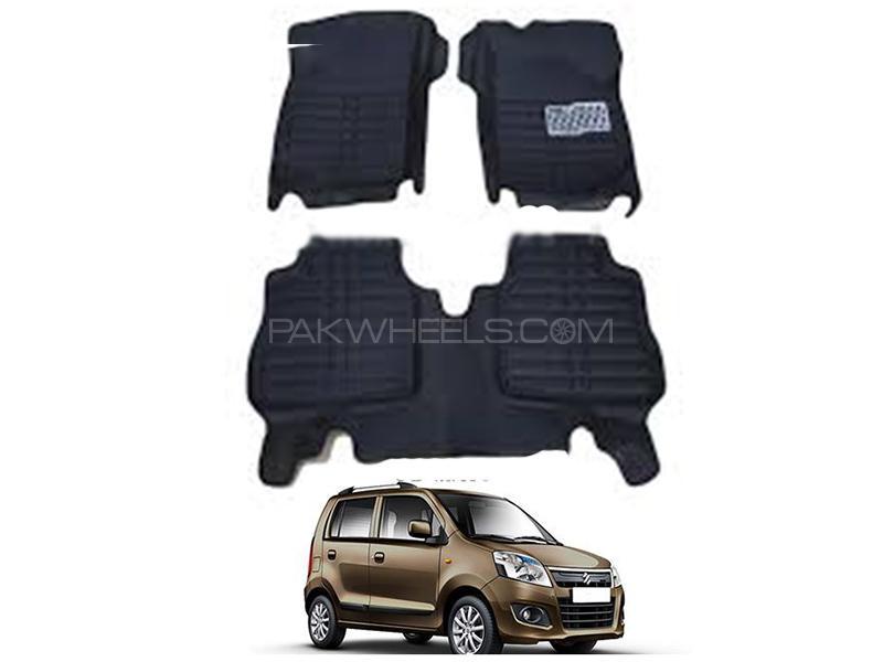 5D Floor Mat For Suzuki Wagon R Local 2014-2021 - Black in Karachi