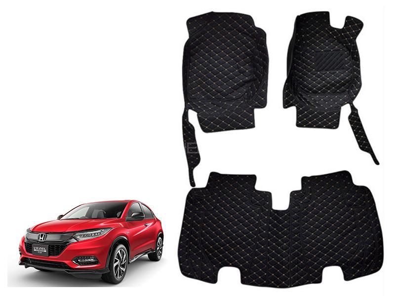 Honda Vezel 2013-2021 7D Floor Mat - Black in Karachi