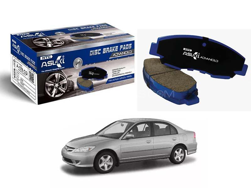 Asuki Advance Brake Pads For Honda Civic 2004-2006 - A-180 AD Image-1