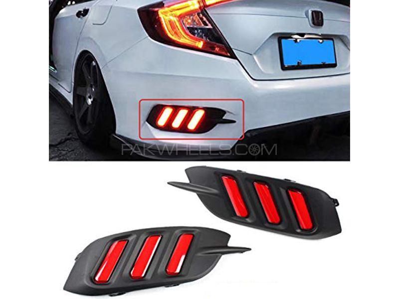 Mustang Style Rear Bumper Light For Honda Civic 2016-2020 in Karachi