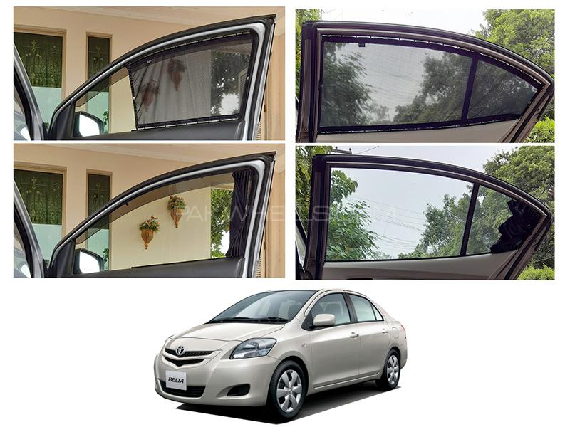 Awra Foldable Fitting Curtain Black Shades For Toyota Belta  in Lahore