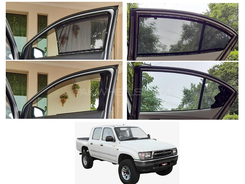 Awra Foldable Fitting Curtain Black Shades For Toyota Hilux 1997-2005 in Lahore