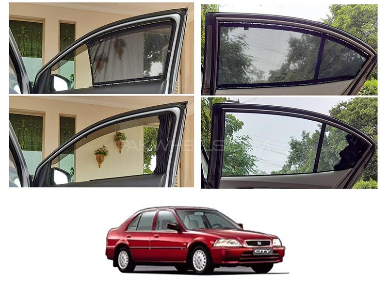 Awra Foldable Fitting Curtain Black Shades For Honda City 1998-2000 in Lahore
