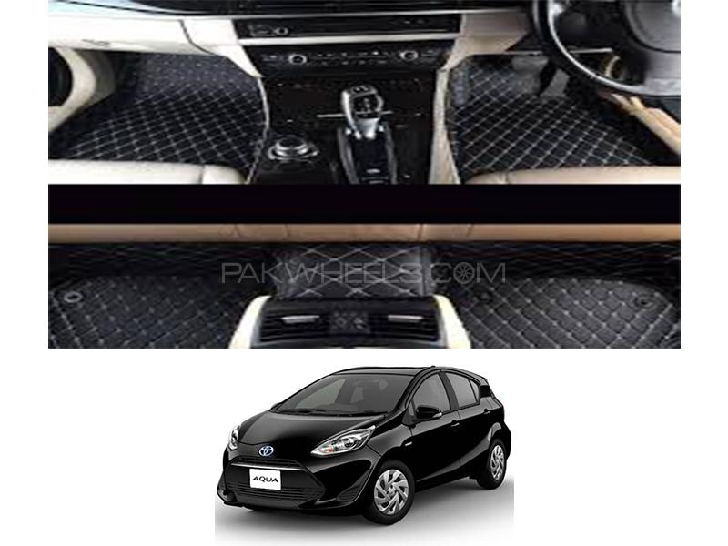 7D Floor Mat For Toyota Aqua 2012-2020 - Black in Karachi