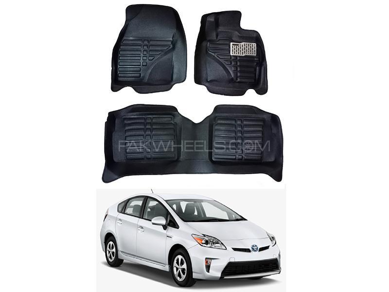 5D Custom Floor Mats Black For Toyota Prius 2010-2015 in Karachi