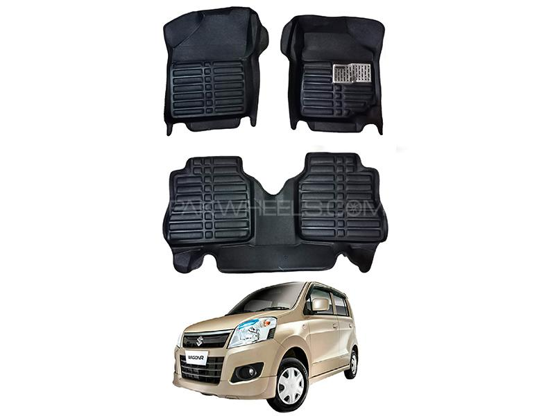 5D Custom Floor Mats Black For Suzuki Wagon R 2014-2020 Image-1