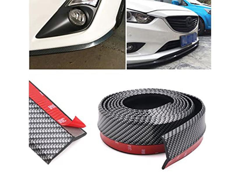 Universal Bumper Rubber Extension - Carbon  Image-1