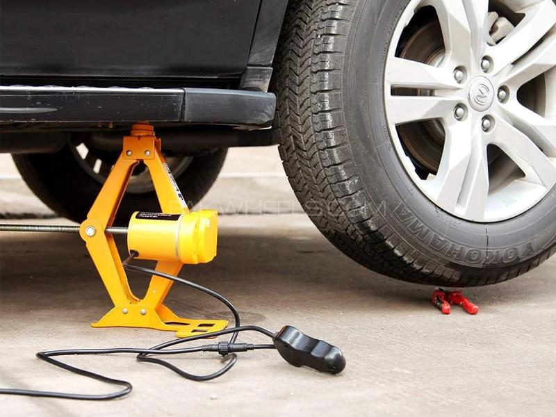 Car Electric Jack 2 Ton Scissor Electric Jack Car Lifting 12v in Lahore