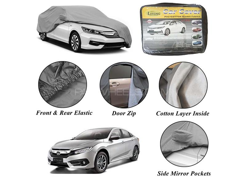 Honda Civic 2016-2020 Non Wooven Inner Cotton Layer Car Top Cover  Image-1