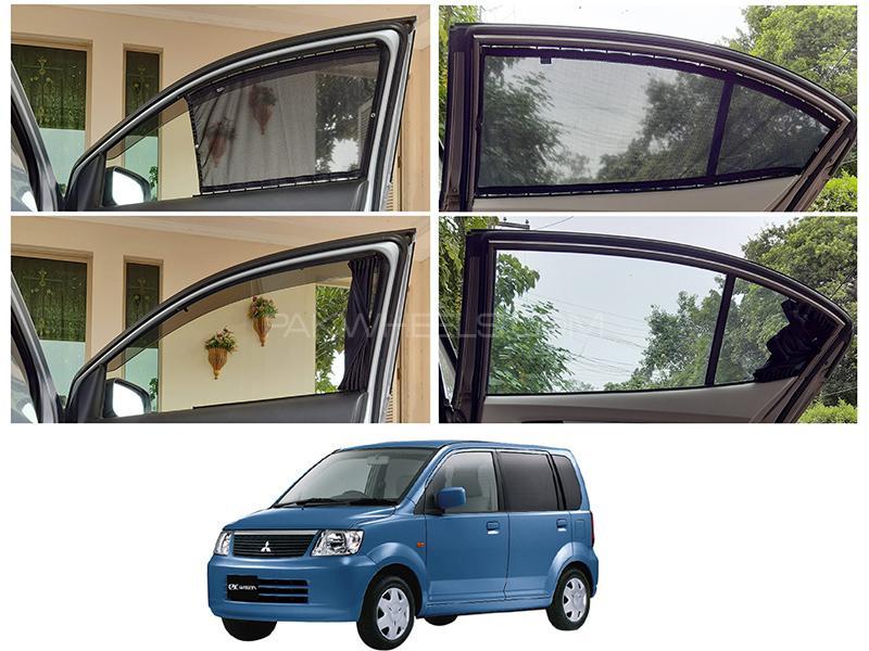 Awra Foldable Fitting Curtain Black Shades For Mitsubishi Ek Wagon 2000-2006 in Lahore