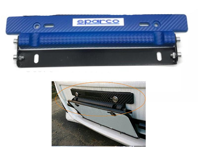 Universal License Plate Tilter - Blue Image-1