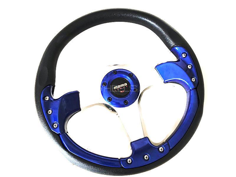 Momo Steering Wheel For Toyota - Blue in Karachi