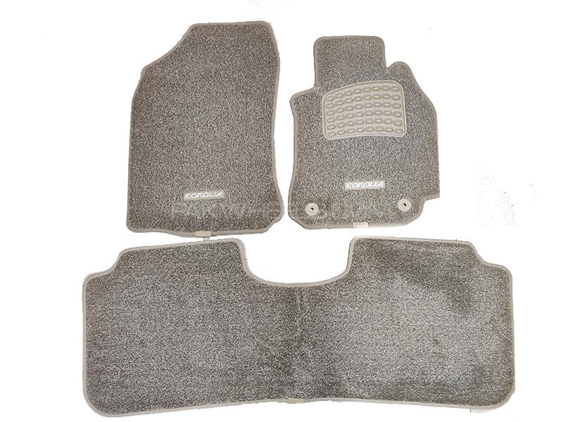 Buy Toyota Corolla 2014 2016 Carpet Mats Oem Finish Anti Slip Beige Grey 3pcs In Pakwheels