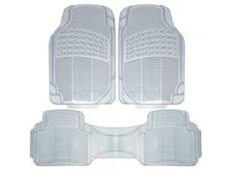 Universal PVC Floor Mats - Transparent White Image-1