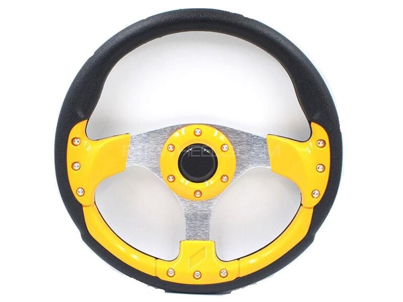 Universal Steering Wheel - Yellow in Karachi