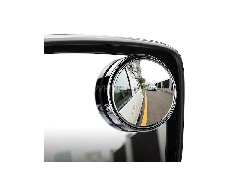 Car Adjustable Blind Spot Mirror Kit Image-1