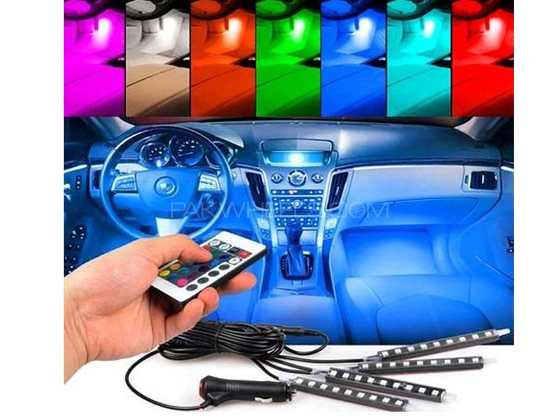 Car Interior Atmosphere Ambient Light Multi Color With Remote Image-1