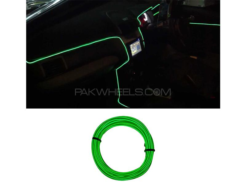 Car Interior EL Glow Neon Wire Green 2m in Lahore