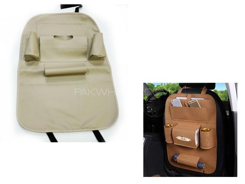 Car Seat Organizer Leather Beige 1pc in Lahore
