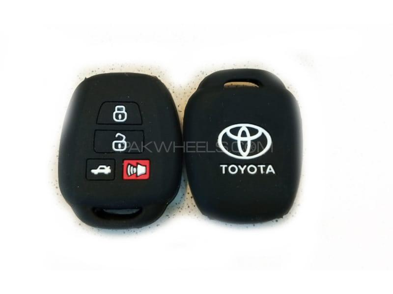 Toyota Corolla 2014-2016 Soft Silicone Key Cover Black in Lahore